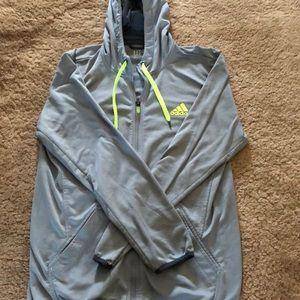 Adidas Mesh Zip-Up Sweatshirt